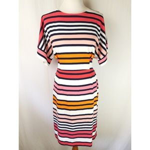 New York & Co Stretch Colorful Striped Dress